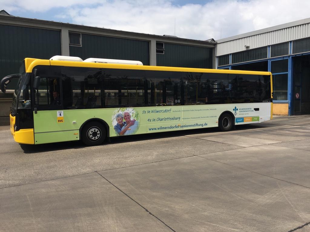 Buswerbung, Wilmersdorfer Seniorenstiftung