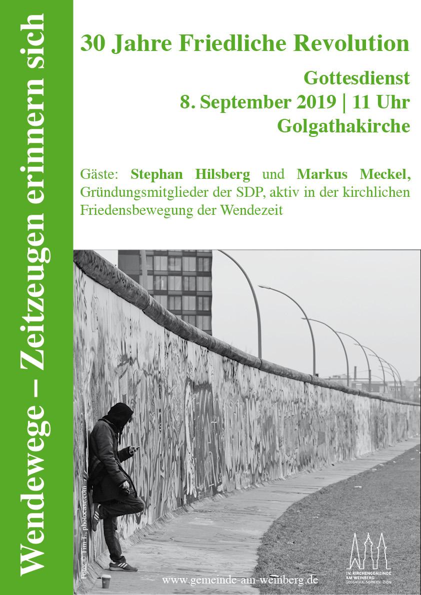 Plakat Wendewege 2019
